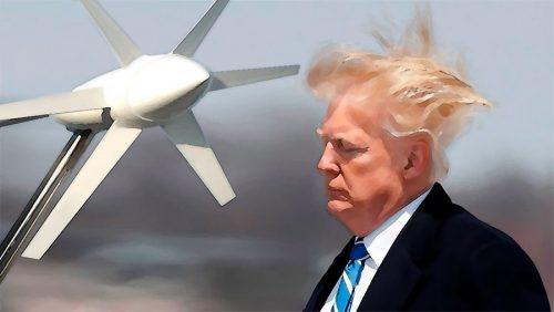 Дональд Трамп ветряки